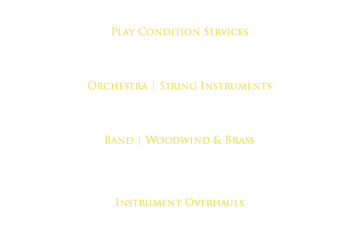 Play Condition Services Orchestra | String Instruments Band | Woodwind & Brass Instrument Overhauls